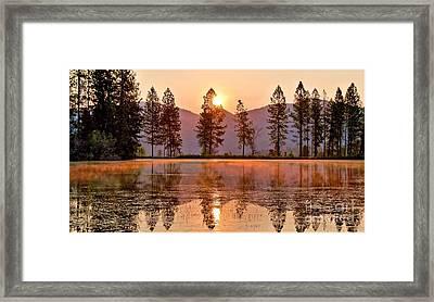 Firey Reflections Framed Print