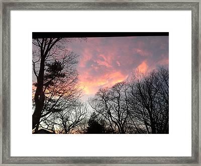 Firey Sunset Framed Print by Brenda Chapman