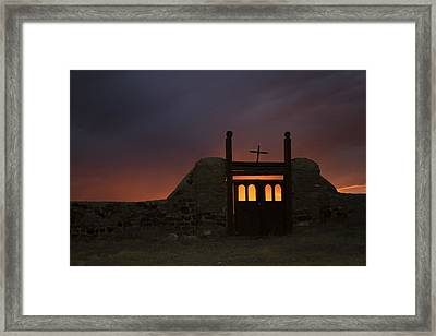 Firey Sunset Framed Print by Jeanne Hoadley