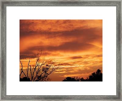 Firey Sunset Framed Print by Robert Brown
