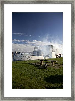 Firing Up The Old Ferry Prince Framed Print