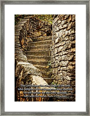 Firm Are The Steps Framed Print