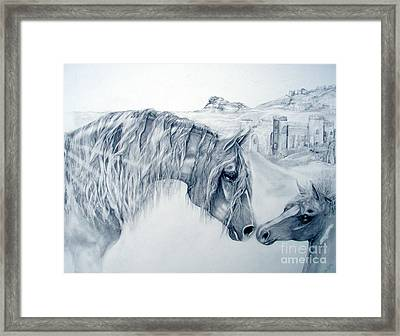 Firm Foundations Framed Print by Jenny Pride