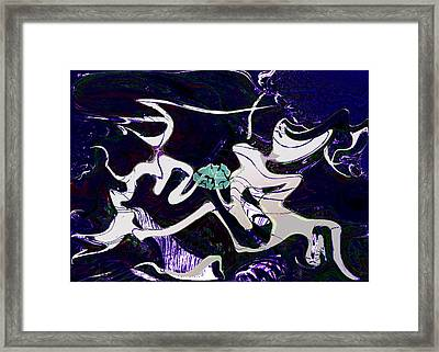 Firmament Cracked #11 Tapestry Of Pain Framed Print by Mathilde Vhargon