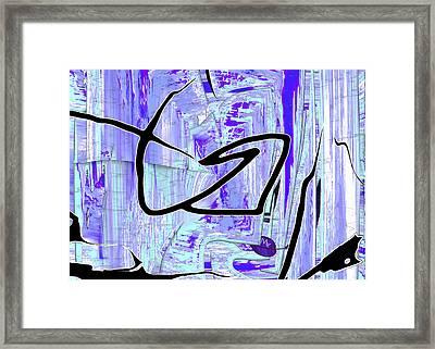 Firmament Cracked #2 - Paper Sky Framed Print by Mathilde Vhargon