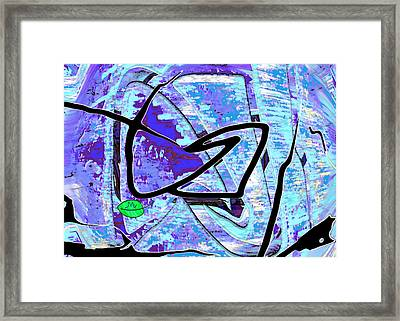 Firmament Cracked #3 - Masks And Cracks Framed Print by Mathilde Vhargon