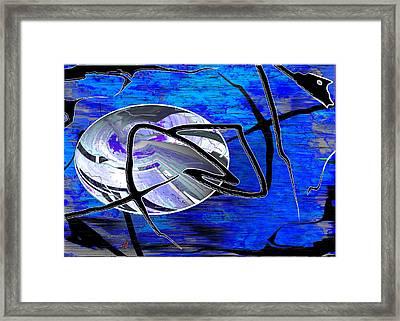 Firmament Cracked #6 - Veneers Framed Print by Mathilde Vhargon
