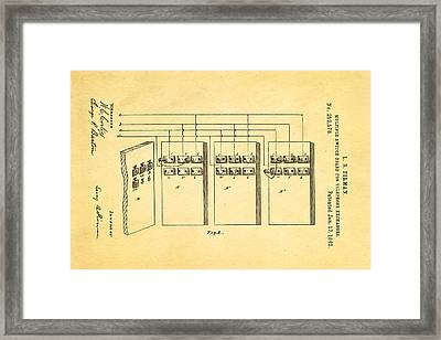Firman Telephone Exchange Patent Art 1882 Framed Print by Ian Monk