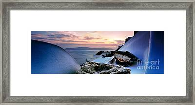 Santorini Sunset Framed Print