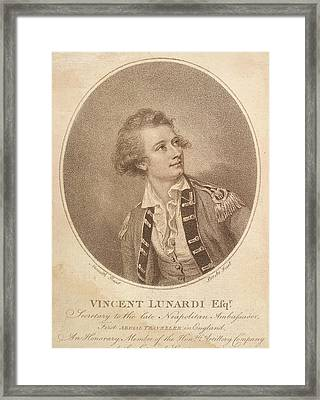 First Aerial Voyage In England Framed Print by British Library