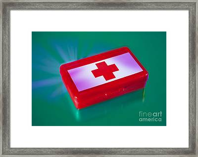 First Aid Kit Framed Print by Erich Schrempp