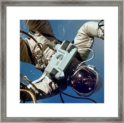 First American Spacewalk, Astronaut Ed Framed Print