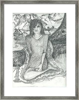 First And Last Model Framed Print by Joseph Wetzel