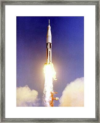 First Apollo Launch Framed Print