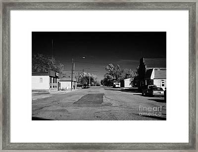 first avenue bengough Saskatchewan Canada Framed Print by Joe Fox