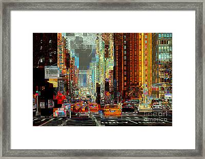 First Avenue - New York Ny Framed Print