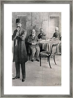 First Balkan War, 1912-1913. Treaty Framed Print by Everett