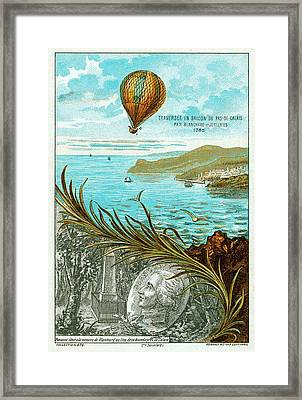 First Balloon Crossing Of English Channel Framed Print