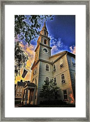 First Baptist Church In America - Providence Framed Print by Stephen Stookey