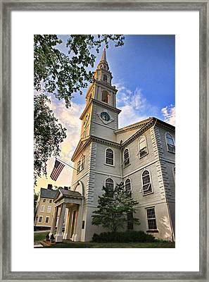 First Baptist Church In America Framed Print by Stephen Stookey