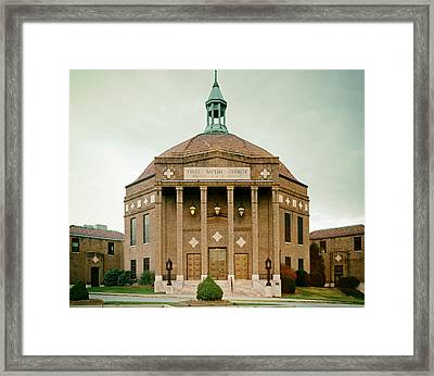 First Baptist Church Of Asheville North Carolina Framed Print by Mountain Dreams