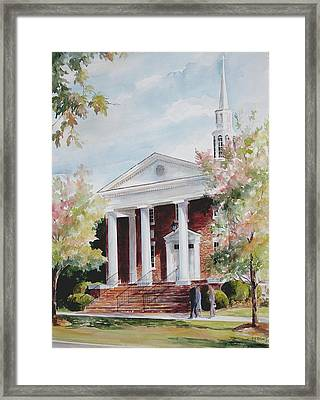 First Baptist Church Sold Framed Print
