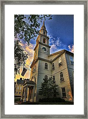 First Baptist Meeting House Framed Print by Stephen Stookey