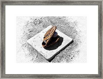 First Base Framed Print by Bill Cannon