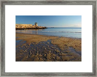 First Beach Sunrise In Rockport Framed Print