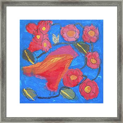Framed Print featuring the painting First Bird by Artists With Autism Inc