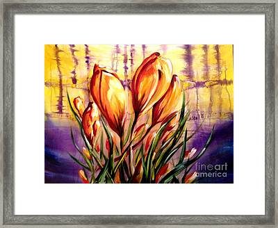 First Blooms Of Spring Framed Print