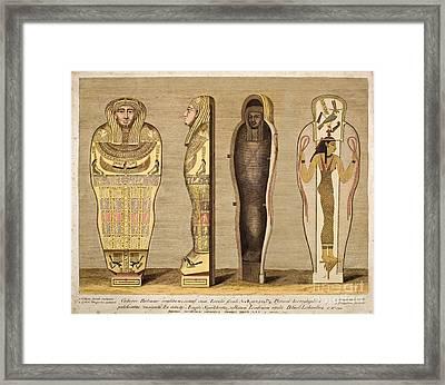 First British Museum Sarcophagus, 1724 Framed Print by Paul D. Stewart
