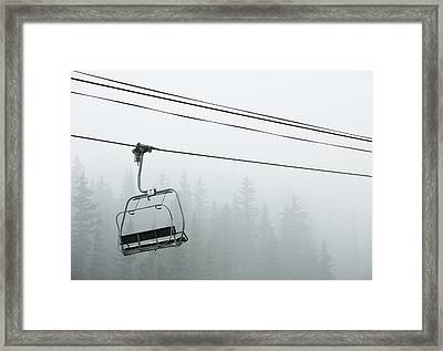 First Chair In The Storm Framed Print by Adam Pender