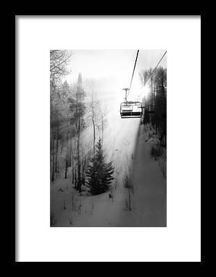 Chairlift Framed Prints