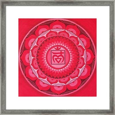 First Chakra Mandala Framed Print by Vlatka Kelc