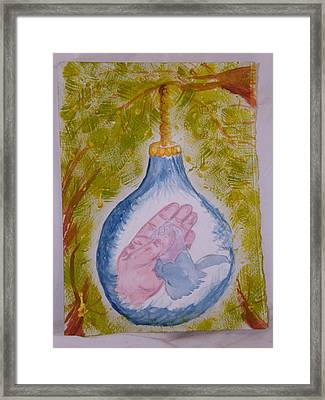 First Christmas Framed Print by Margaret G Calenda