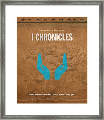 First Chronicles Books Of The Bible Series Old Testament Minimal Poster Art Number 13 Framed Print by Design Turnpike