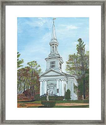 First Church Sandwich Ma Framed Print