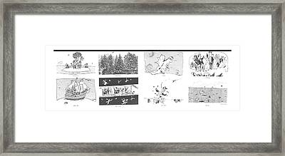 First Citizens  White Men  Central Park  Mass Framed Print