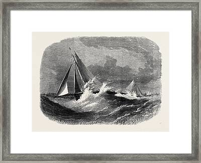 First Class Cutter Match Of The Royal Thames Yacht Club Framed Print by English School