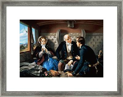 First Class - The Meeting Framed Print by Abraham, Solomon