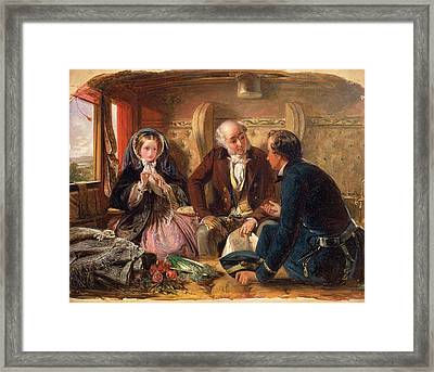 First Class - The Meeting. And At First Meeting Loved Framed Print by Litz Collection