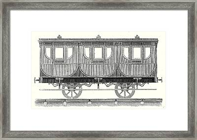 First-class Wagon Framed Print by English School