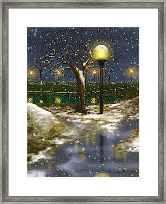 First Cold Framed Print by Veronica Minozzi