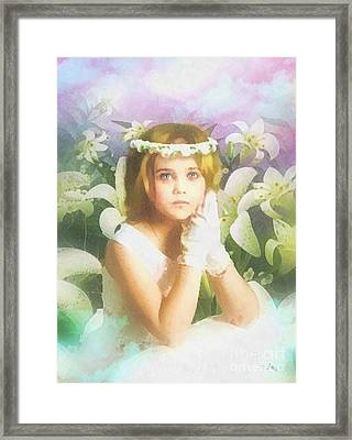 First Communion Framed Print by Mo T
