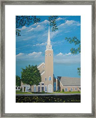First Congregational Church Framed Print by Norm Starks