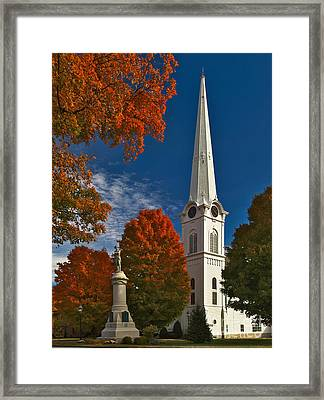 First Congregational Church Of Manchester Framed Print