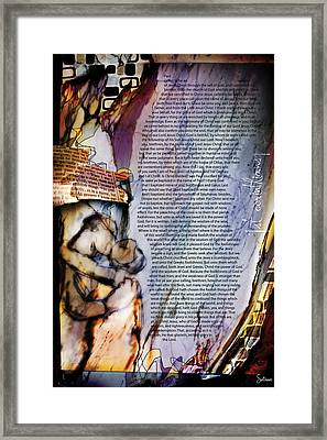 First Corinthians 1 Framed Print