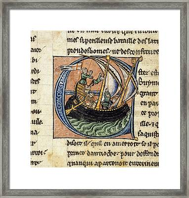 First Crusade, 11th Century Framed Print by British Library