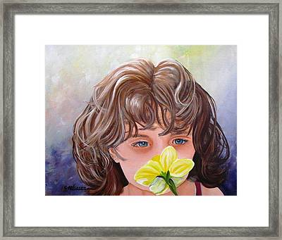 First Daffodil Framed Print